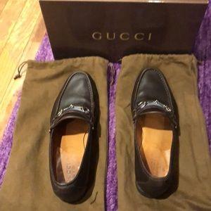 Gucci Shoes - Men'sBrown Loafer Blue Web Silver Horsebit